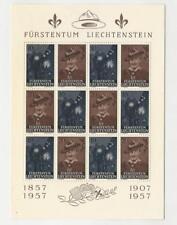 Liechtenstein, Postage Stamp, #316a Mint NH Sheet, 1957 Scouting