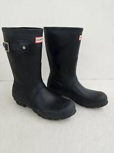 Hunter Black Original Short Rubber Rain Boot Women's 8