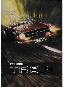 1971 Triumph TR6 PI brochure