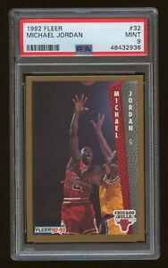1992 Fleer #32 Michael Jordan Bulls HOF PSA 9