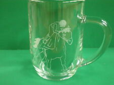 Personalised Freehand Engraved Pint Beer Glass Tankard Sports Horse Racing +Name