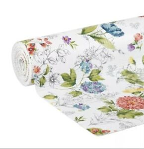"""X 2 Pioneer Woman Blooming Bouquet Non-Adhesive Shelf Liner 12"""" X 10 Each! New!"""