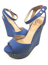 PENNY LOVES KENNY FELITCTY WEDGE SANDAL BLUE(LEFT SHOES) US 8.5, 7.5 NEW/DISPLAY