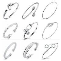 Silber Überzogen Einstellbar Bangles Armbänder Damen Aussage Geschenk Damen