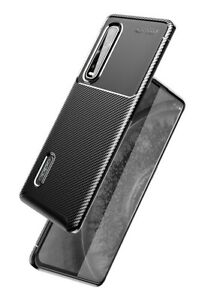 """Carbon Fibre Slim Shockproof Protective Case Cover for Oppo Find X2 Pro (6.7"""")"""