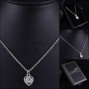 Geschenk Halskette Herz, Herzkette Damen, Silber, im Etui, Schmuckhandel Haak®