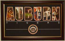 AUBURN Tigers football framed nameplate print Aubie War Eagle Jordan-Hare