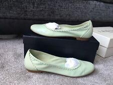 L.K. Bennett lime green Nappa soft leather ballerinas flats, Eur Size 38
