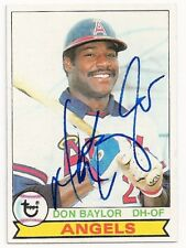 DON BAYLOR - SIGNED/AUTO/AUTOGRAPH ON A 1979 BASEBALL CARD - ANGELS