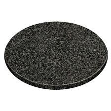 Round Black Granite Chopping Board Kitchen Cutting Worktop Saver Pastry Slab New