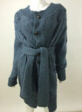 RPP 200£ Diesel New Women's M-Veruda 00TKJ Warm Winter Cardigan XS Color Blue