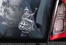 Knights Templar - Car Window Sticker - Britannia King George Masonic Saint - V06