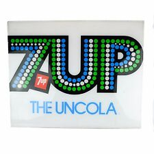 1970 7Up Acrylic Sign Large White Bubbles Soda Vending Machine 7 UP Vintage