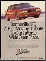 1990 PONTIAC BONNEVILLE advertisement, Pontiac Bonneville SSE