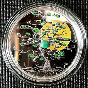 "Niue 2017 ""Tree of Luck"" 1 oz Silver Coin with Frame."