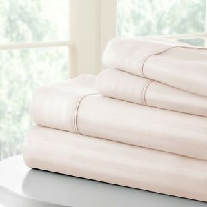 Hotel Collection Premium Quality Striped Bed Sheet Set by iEnjoy home