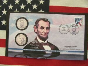 2010-Abraham Lincoln First Day Of Issue, P&D $ 1.00 Coin Cover P36  #434