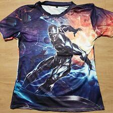 Nwot Marvel Silver Surfer T-Shirt Front/Back Sublimation Poly/Spandex Men'S M/L