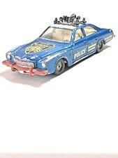 "Corgi Toys 6"" Blue BUICK REGAL Diecast POLICE Car Vintage No:290 70's"