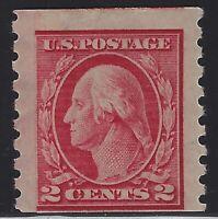 US Stamps - Scott # 393 - p8.5 Vert. - Paste-Up Single - Jumbo!! MVLH    (H-181)