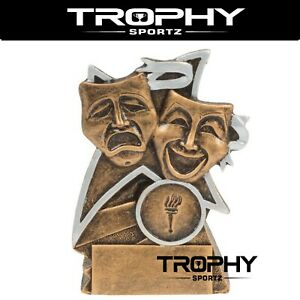 DRAMA 110mm RESIN trophy award ACHIEVEMENT winner runner up THEATRE