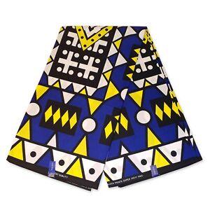 African fabric BLUE SAMAKAKA ANGOLA Wax print cloth (Traditional Samacaca)
