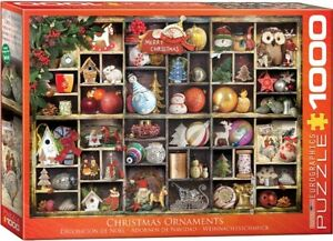 Eurographics 1000 Piece Jigsaw Puzzle - Christmas Ornaments (ETA 28th July)
