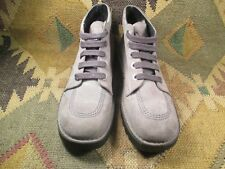 KicKers Grey Suede CHUKKA ANKLE BOOT size 40 made in France