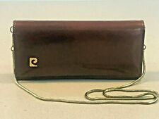 Pierre Cardin Vintage 1970s Leather Clutch Bag Purse Detachable Snake Chain f9ea75d797f9d