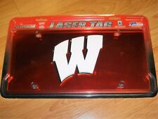 WISCONSIN BADGERS LICENCE PLATE by LASER TAG