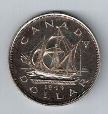 Canada 1949 Large Silver $1-Sailing Ship