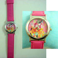 NEW Winx Club Children Kids Fashion Pink Wrist Quartz Watch Wristwatch + Badge