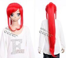 W-261 Gurren Lagann Yoko Littner cosplay rojo red 95cm peluca Wig anime manga