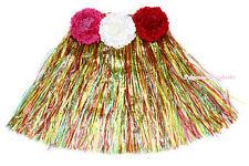 Halloween Party Adult Kids Costume Various Color Hawaiian Dance Hula Grass Skirt
