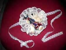 Pair of Teddy Bear Curtain Tiebacks or Lamp Decor