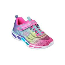 aeb09cae0e53f SKECHERS INFANT LIGHTS TRAINERS LITE BEAMS COLOUFUL FLASHING SOLE SHOES UK  4 NEW