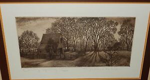 "MICHAEL KOHLER ""EARLY SPRING"" LIMITED EDITION ETCHING"