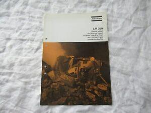 Atlas Copco LM 250 shovel loader equipment brochure