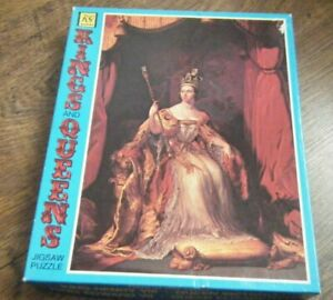 KINGS AND QUEENS 1970'S JIGSAW PUZZLE - QUEEN VICTORIA - 400 PIECES KG GAMES