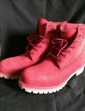 Timberland Boots Mens Size 12 RED Premium Waterproof New without Box
