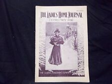 1896 FEBRUARY LADIES' HOME JOURNAL MAGAZINE - GREAT ILLUSTRATIONS & ADS -ST 1553