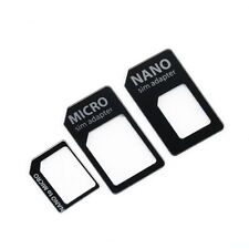 3 in 1 Nano SIM to Micro Standard SIM MICROSIM Adaptor Adapter for iPhone 5 FT