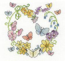 DMC Butterflies In Bloom Counted Cross Stitch Kit Floral Coeur BK1674