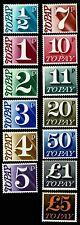 1970-75 Great Britain #J79-91 Postage Due - Ognh - Vf - Cv$41.65 (Esp#1758)
