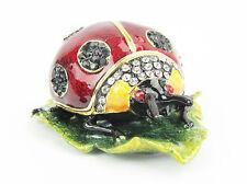Ladybug or Ladybird Jewelled Trinket Box or Figurine
