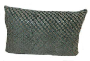 DRANSFIELD & ROSS Snake Eyes Teal Tern DECORATIVE PILLOW NWT