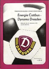 Comedores-trofeo 78/79 dinamo dresde-energía cottbus, 20.12.1978