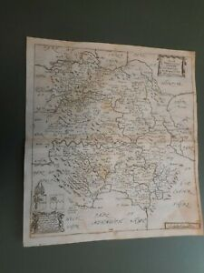 100% ORIGINAL HEREFORDSHIRE MAP BY R BLOME C1679 VGC SCARCE LOW UK POST