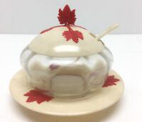 Glas Marmeladenglas Jam Pot für Konfitüre Gelee Honig Vintage D.R.P.a. 50er J.