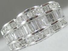 White Gold Channel Anniversary Band #R00472Hw Modern Diamond Right Hand Ring 14K